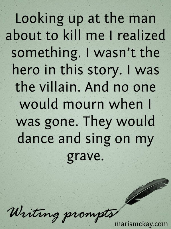 I'm Not The Hero – Wednesday Writing prompt