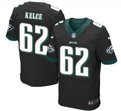 7cfa20c12 Men s Philadelphia Eagles  62 Jason Kelce Black Alternate NFL Nike Elite  Jersey