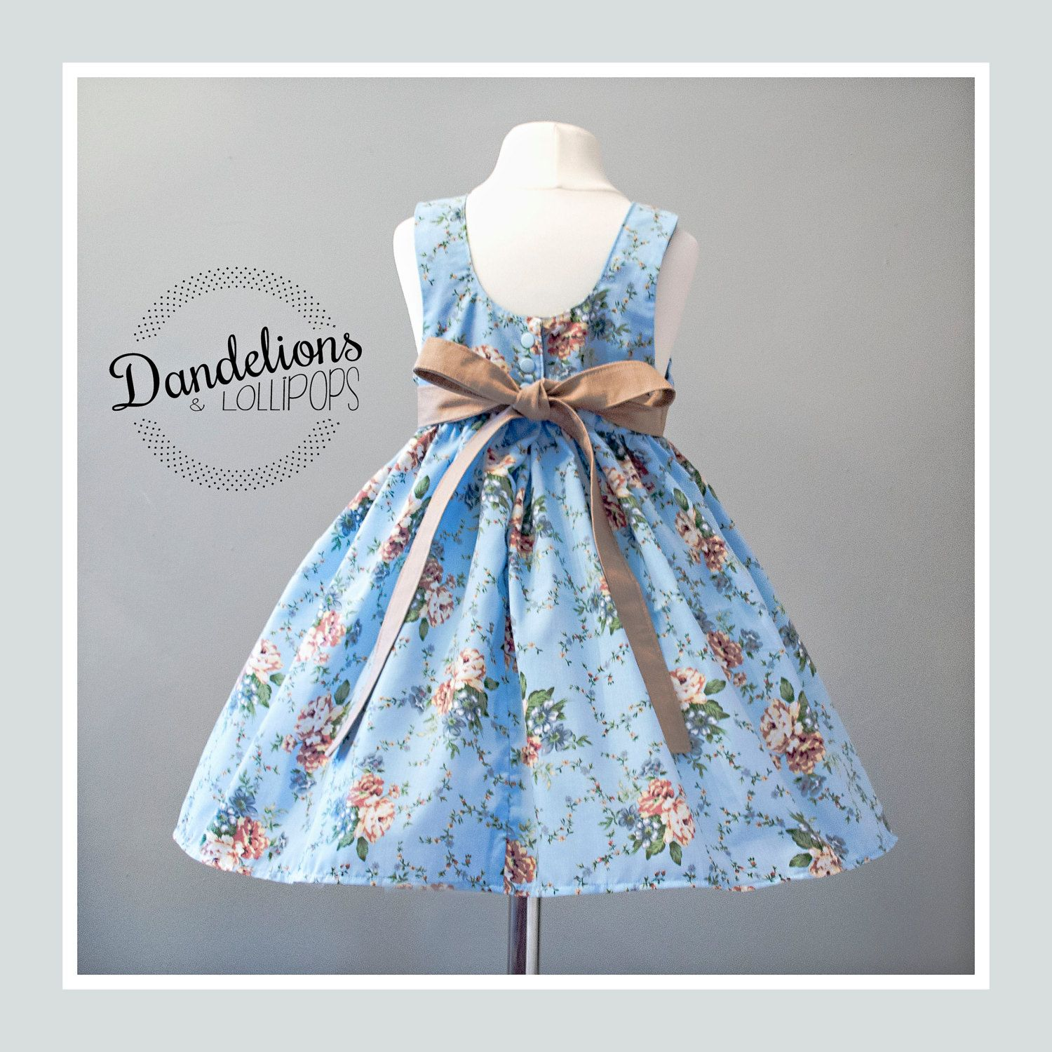 Party Dress • Age 3 • Vintage Classic Style with Belt *LOW COST ...