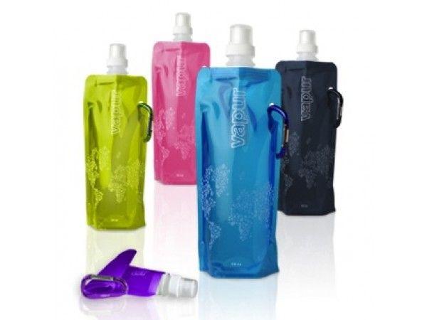 Vapur Collapsible Water Bottle - Flat Water Bottle - BPA-free. Roll it, fold it and flatten it. The ultimate drinking water bottle.