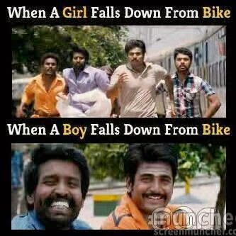 A DOSE OF HUMOR: fall from a bike