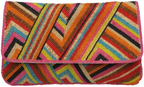 c0180cc08 Dune Lissy Multi Stripe Beaded Clutch Bag in Multicolor (multi ...
