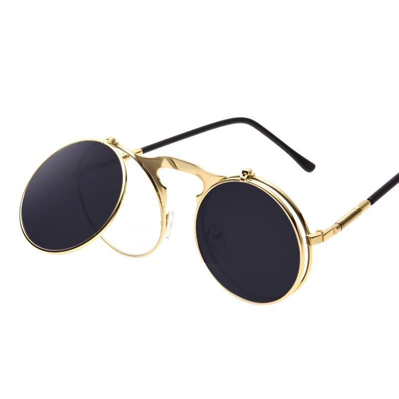65bc86884b86 Round Flip Up Steampunk Vintage Sunglasses | Steampunk Accessories ...