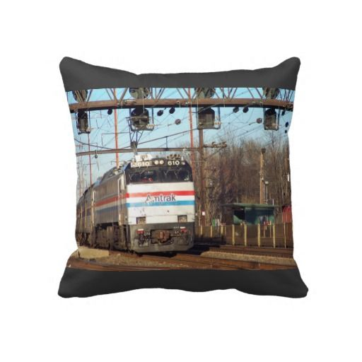 Amtrak Railroad E 60 610 Running Hard Pillows Amtrak Railroad Train Tracks