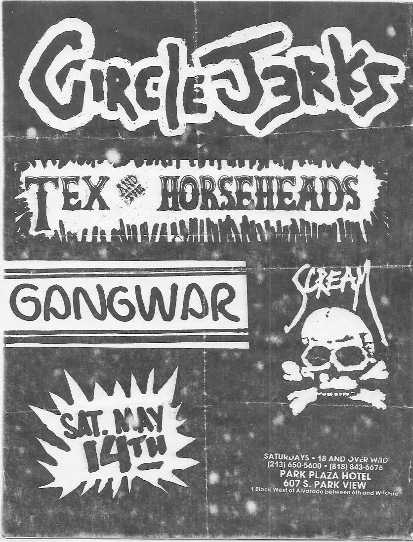 Circle Jerks playing Scream in LA. I used to go to Scream almost every weekend