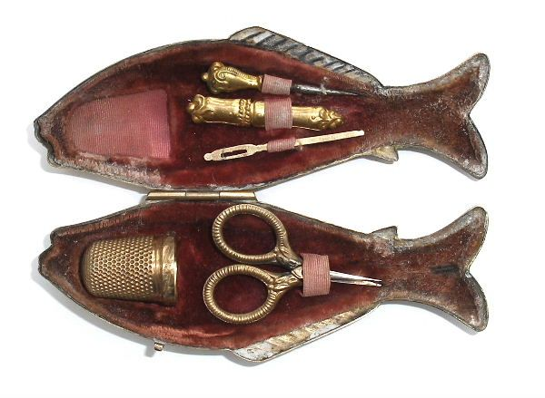 Old Sewing Thimbles And Scissors Thimble Scissors
