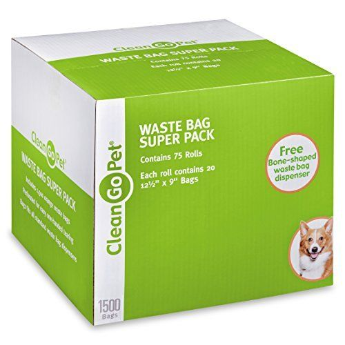 Clean Go Pet Dog Waste Bags Super Pack 75 Perforated Rolls Total Of 1500 Durable Leakproof By Learn More Visiting The Image
