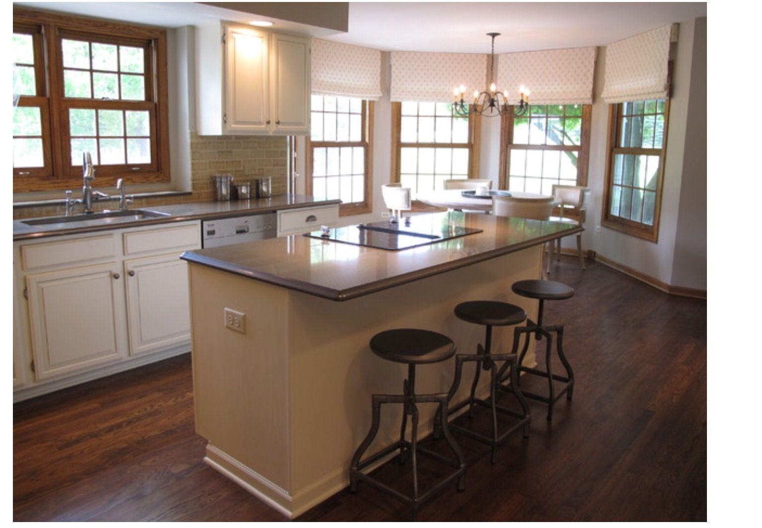 White Kitchen Oak Trim