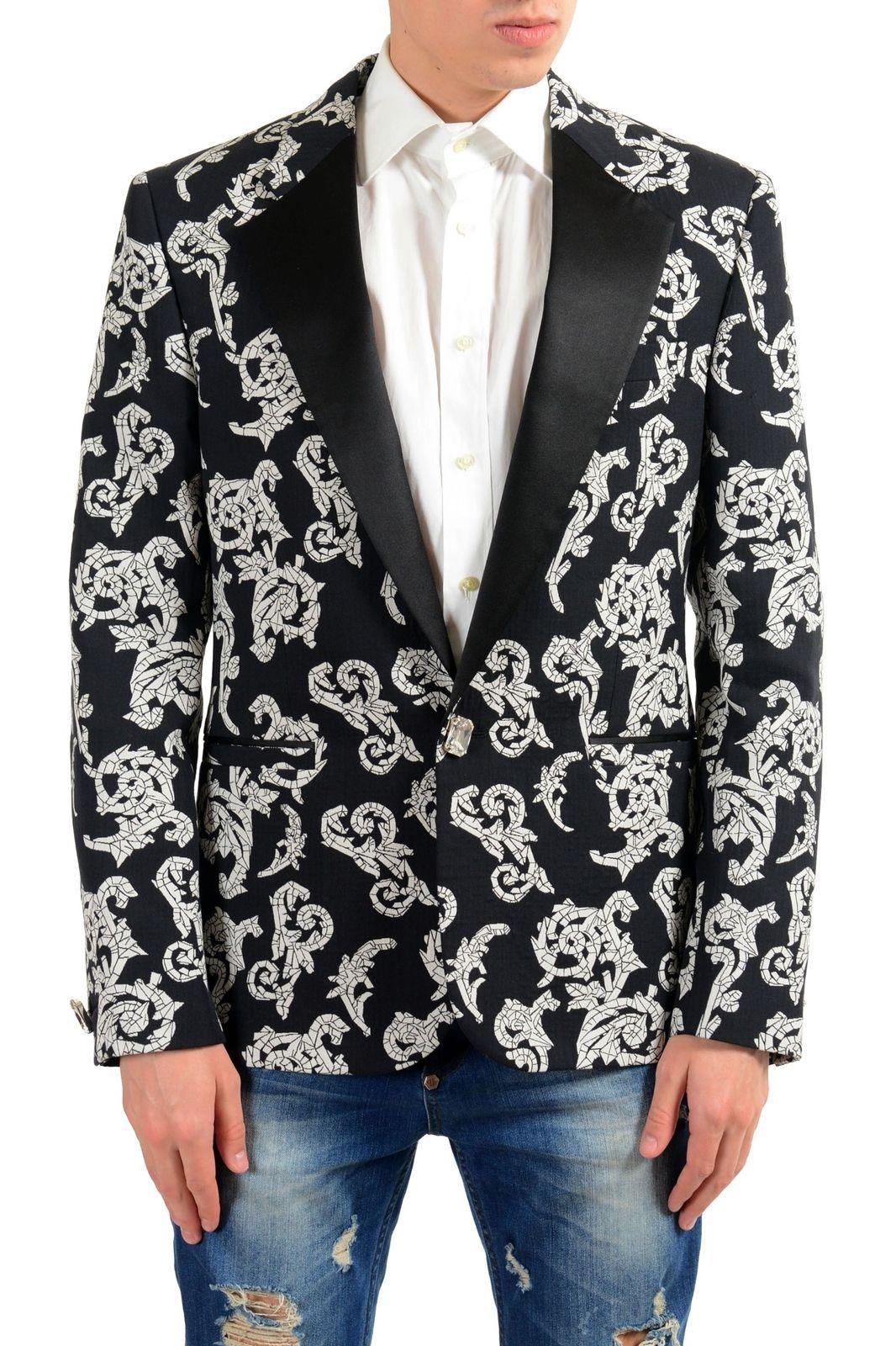 c5bbd3f6c 552.49 | Versace Men's Silk Jacquard Blazer Sport Coat Size 36 38 40 ...