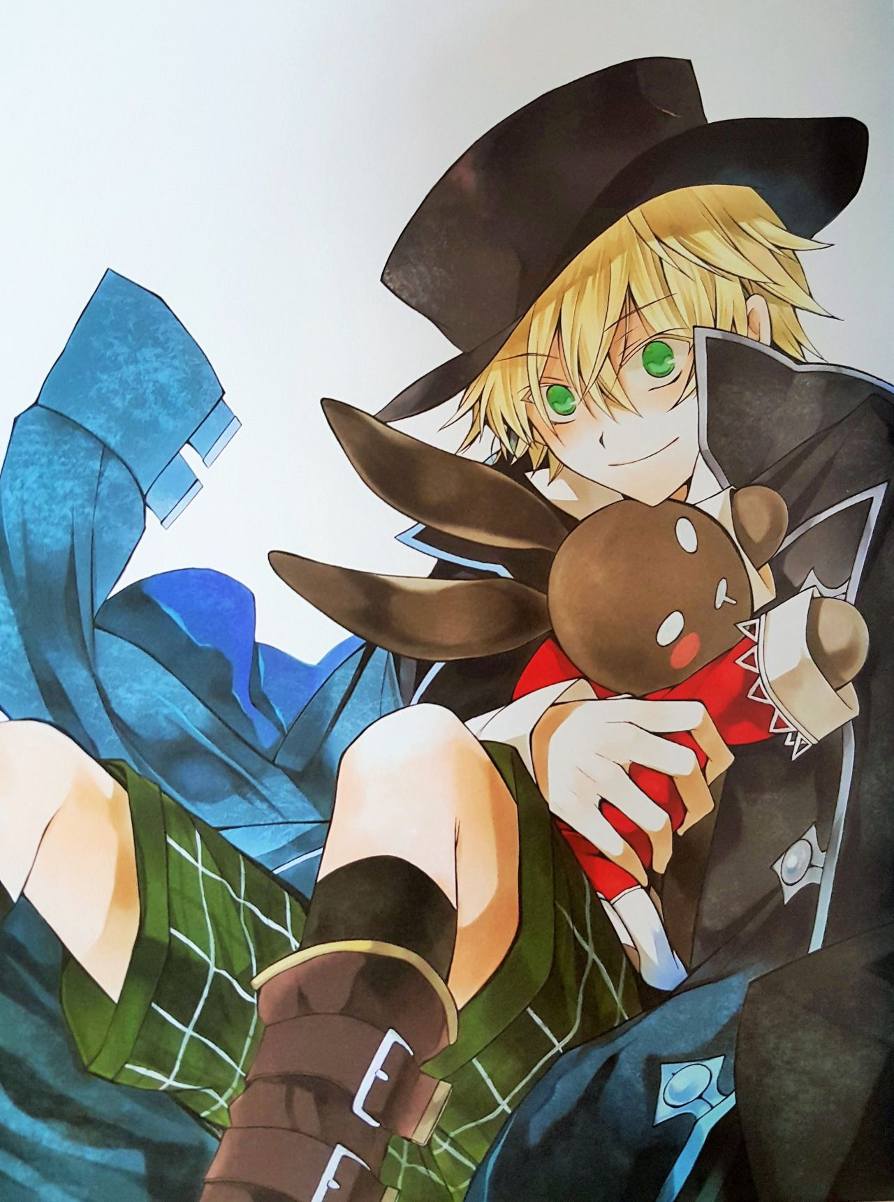 Oz in gil's hat and jacket and alice the b rabbit plush X3 I seriously can't ever get over Jun mochizuki's art it's so amazing <3