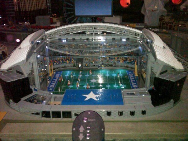 Dallas Cowboys Stadium made of Legos at Lego Land.Grapevine Mills ...