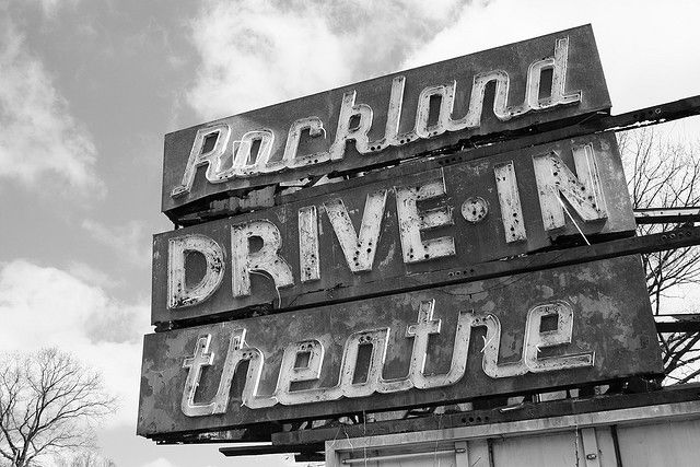 Rockland Drive In 1 Nyack New York Vintage Signs Store Signs