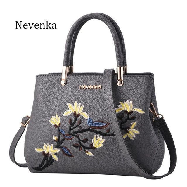 Nevenka Women Bag Zipper Embroidery Handbag Flower Bag Floral Tote Ladies Evening Strap Bags Colorful Female Messenger Bags Sac