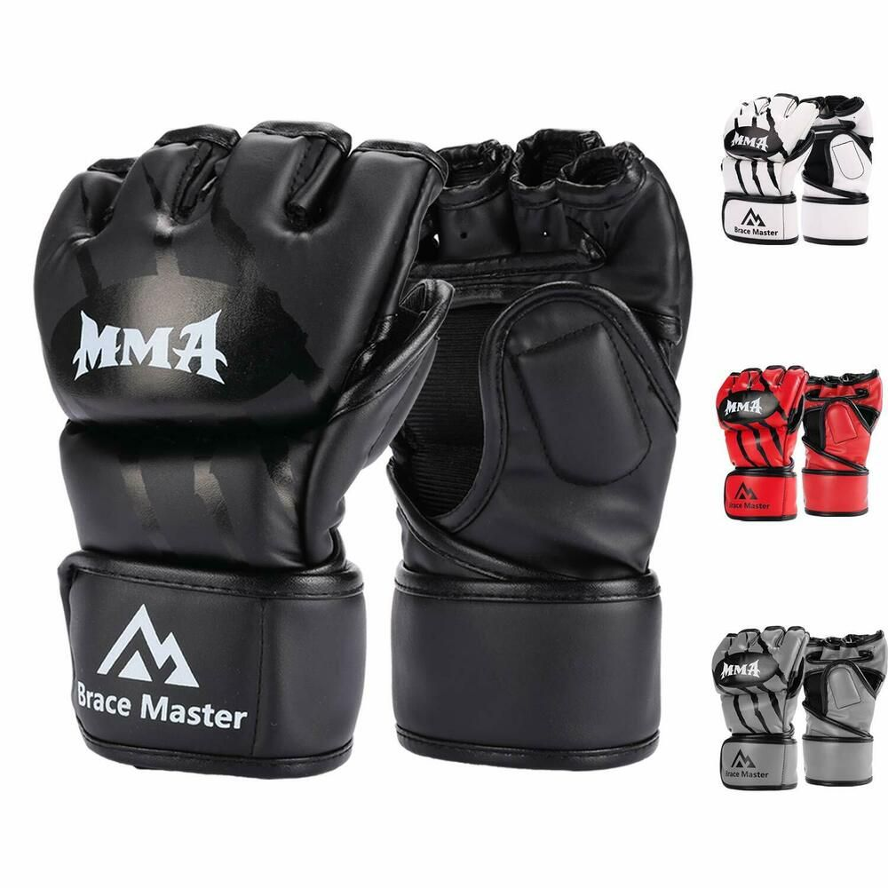 Kickboxing Gloves Punch Bag Muay Thai Boxing Training Fingerless Gloves for Men