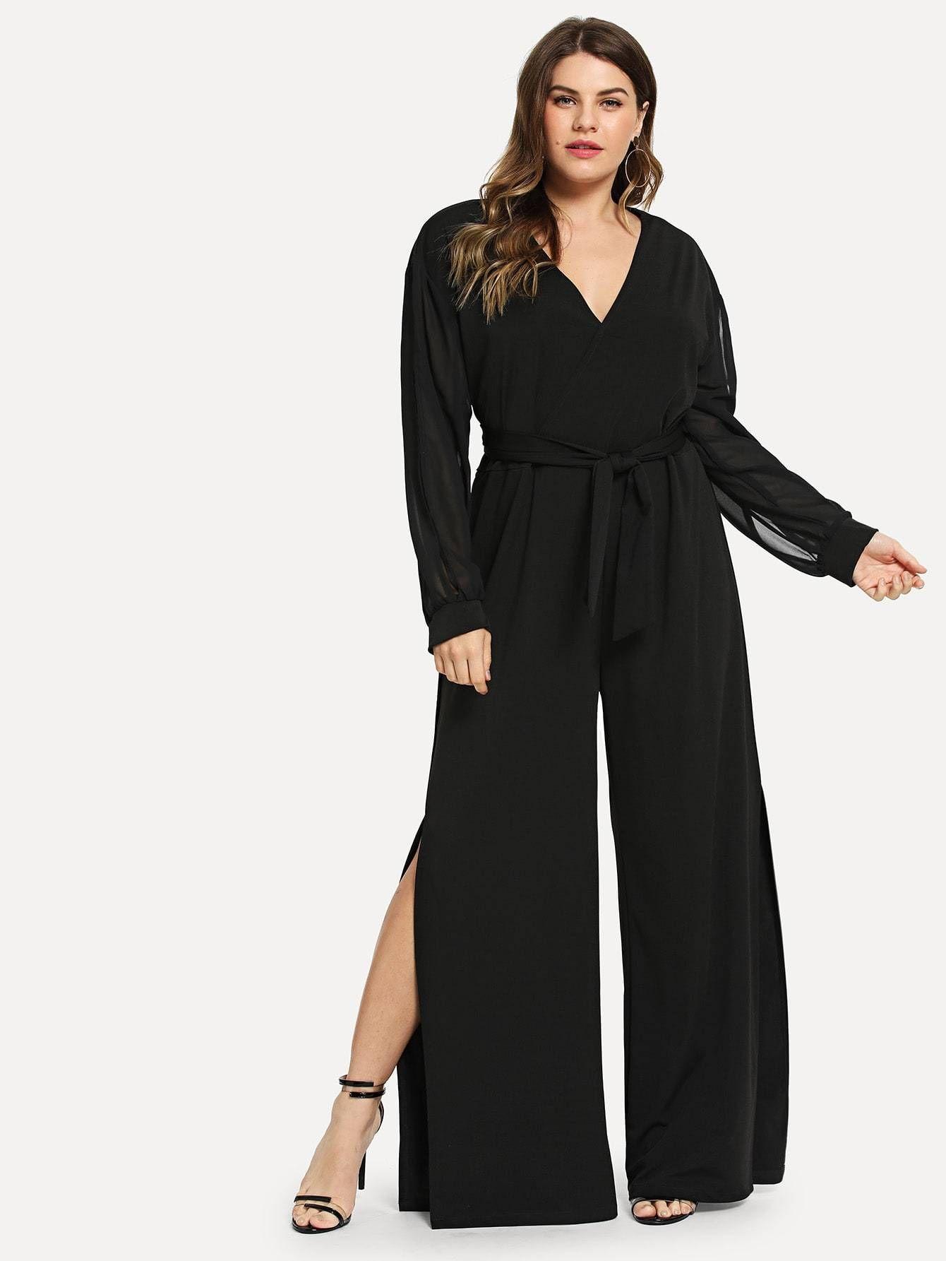 84da838d6 All Black Plus Size Jumpsuits