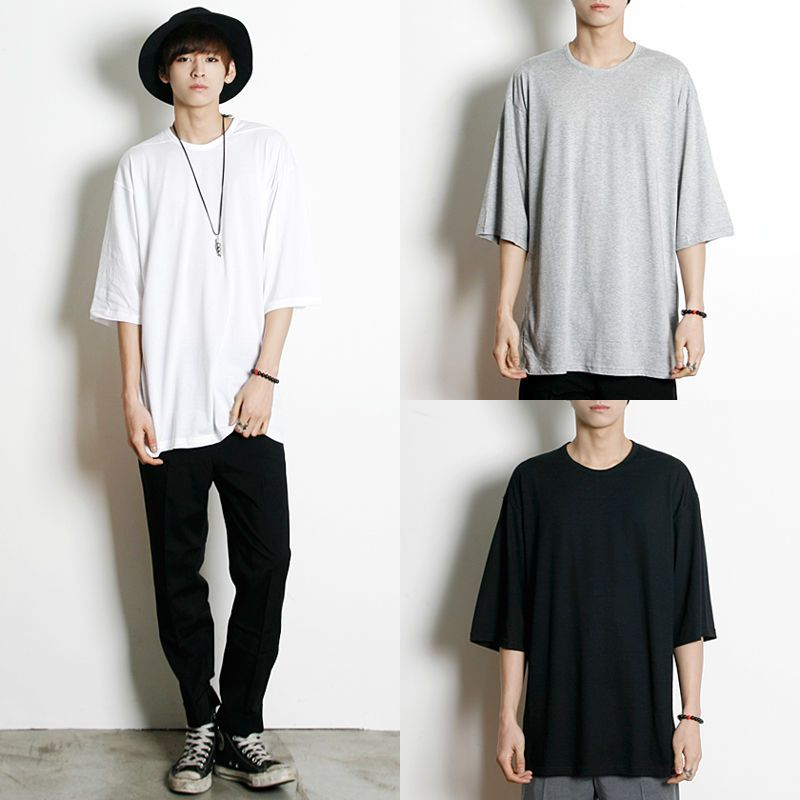 Remember Click Solid Color Basic T-Shirt BLACK GRAY WHITE ONE SIZE Korean Wear #RememberClick #BasicTee