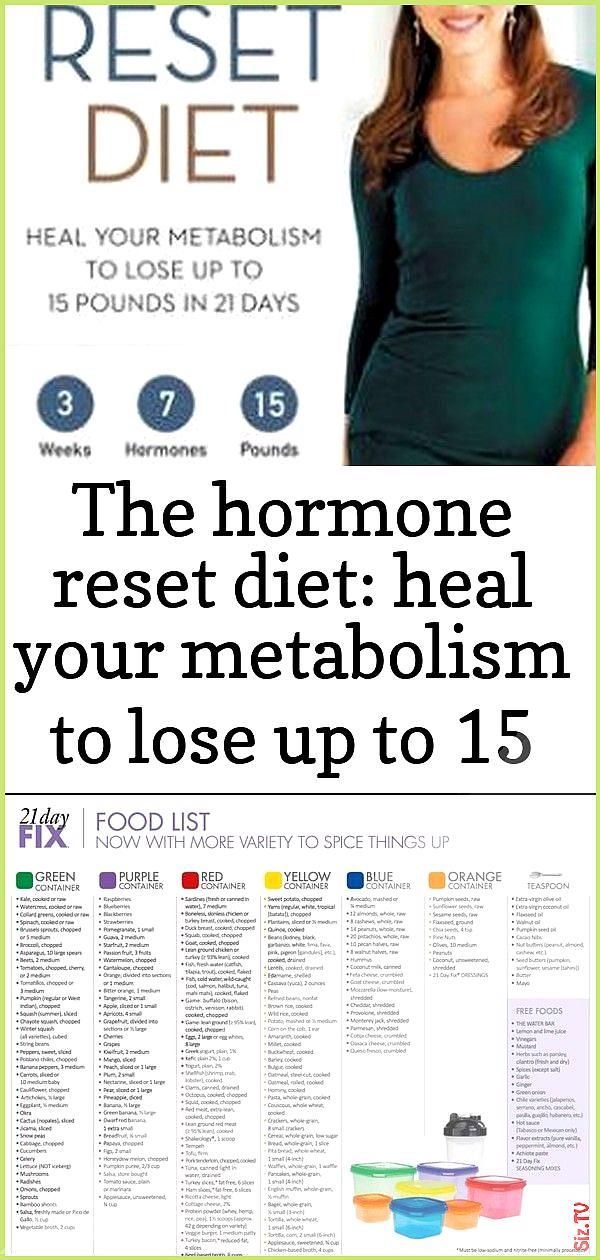 The hormone reset diet heal your metabolism to lose up to 15 pounds in 21 days 19 The hormone reset...