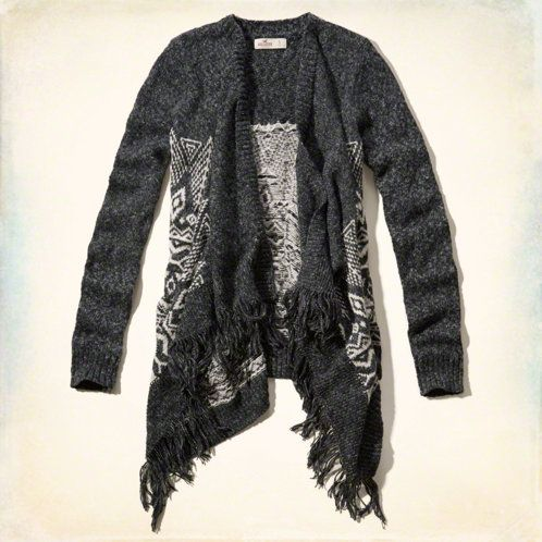 Hollister Fringe Blanket Cardigan Found on my new favorite app Dote Shopping