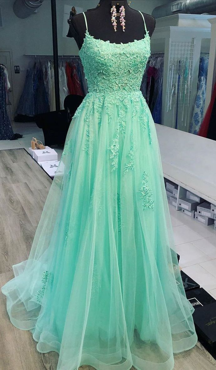Mint Green Prom Dresses Formal Ball Gown Prom Dresses Pretty Lace Prom Dress Lp1259 In 2021 Mint Green Prom Dress Prom Dresses Ball Gown Prom Dresses [ 1179 x 690 Pixel ]