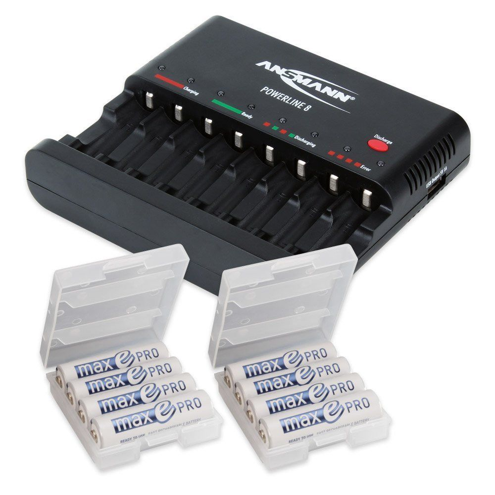 Ansmann Powerline 8 Battery Charger Max E Pro Bundle | Charger