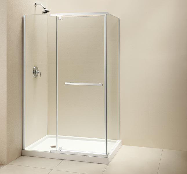 Dreamline Quatra 32 5 16 X 46 5 16 X 72 Inch Frameless Pivot Shower Enclosure Framed Shower Enclosures Shower Enclosure Corner Shower Enclosures