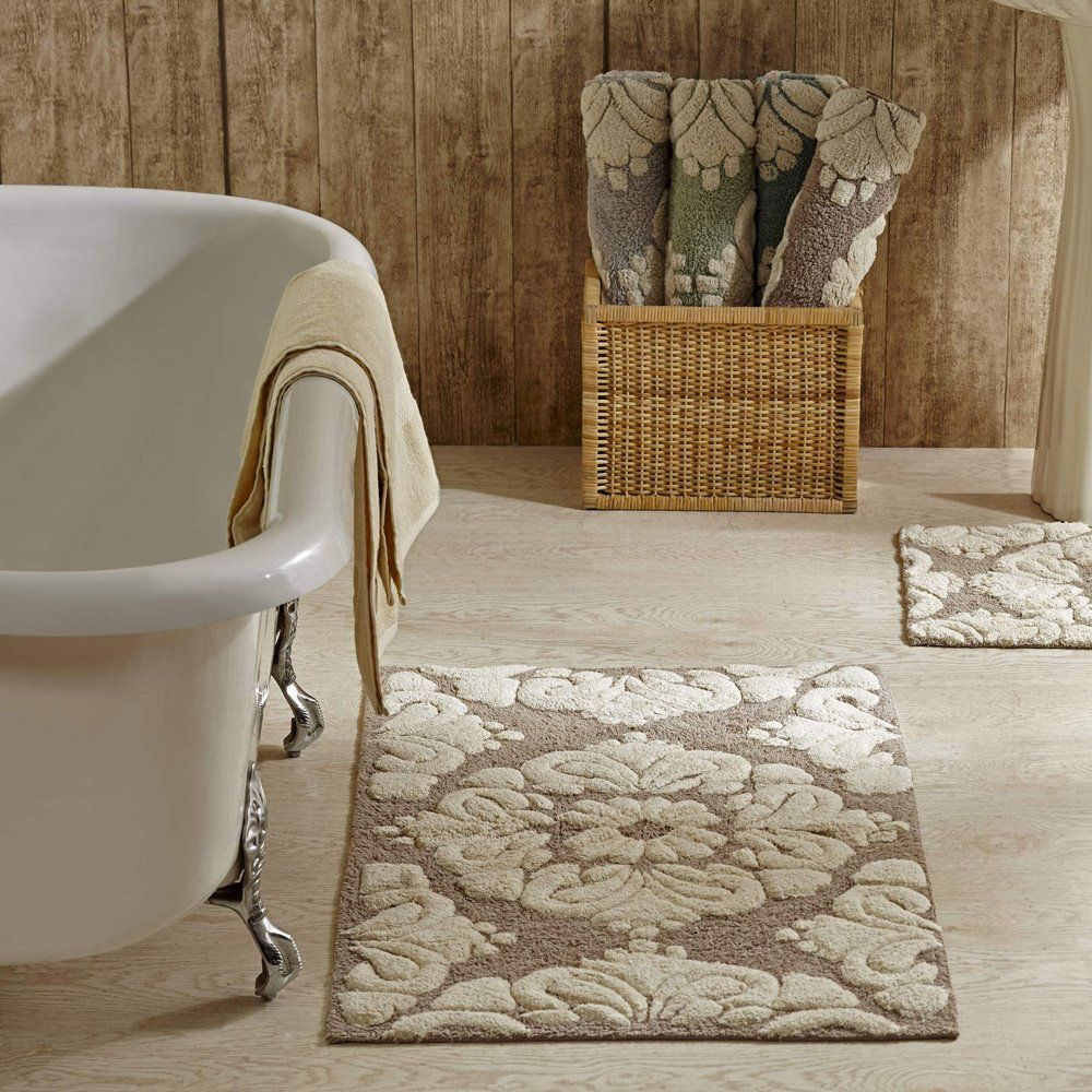 2 Piece Pattern Cotton Tufted Bath Rug Set By Better Trends 2