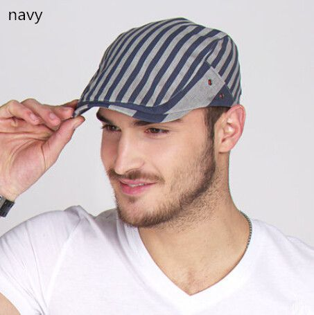 48108ece781 Fashion  stripe flat  Cap for  Men suited for  outdoor in  summers ...