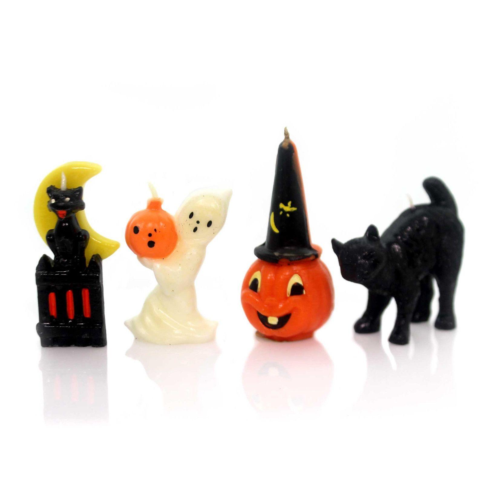 Halloween Vintage Halloween Candles Set/4 Halloween Decor