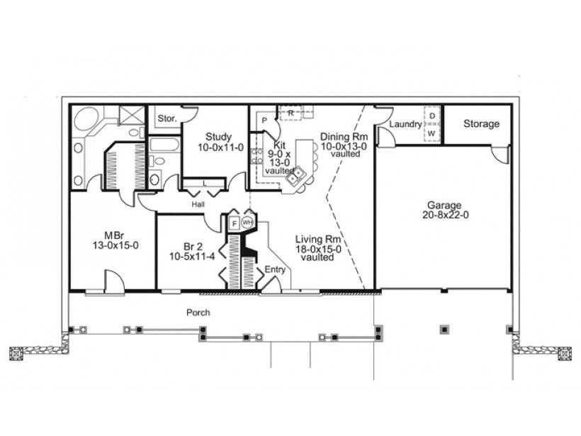 ordinary berm home floor plans #7: ePlans Country House Plan u2013 Earth Berm Home with Styleu2013 1480 Square Feet  and 2