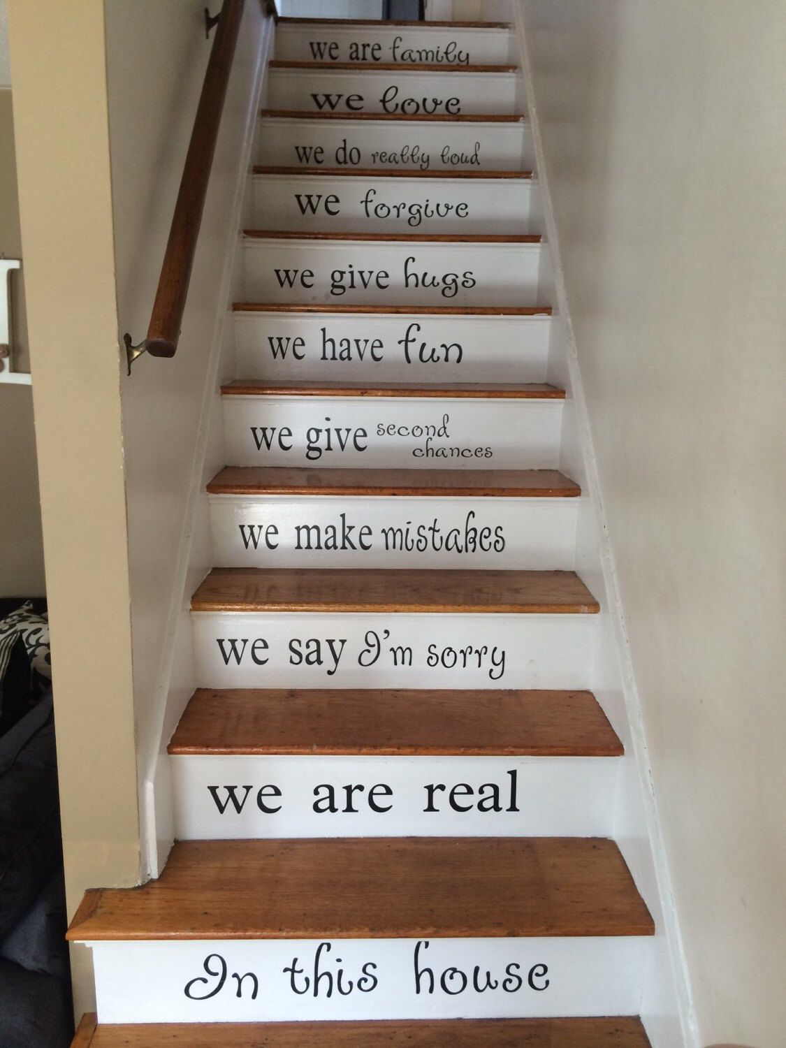 Stairs Decal   Vinyl Decal For Staircase   Custom Color   In This House  Vinyl