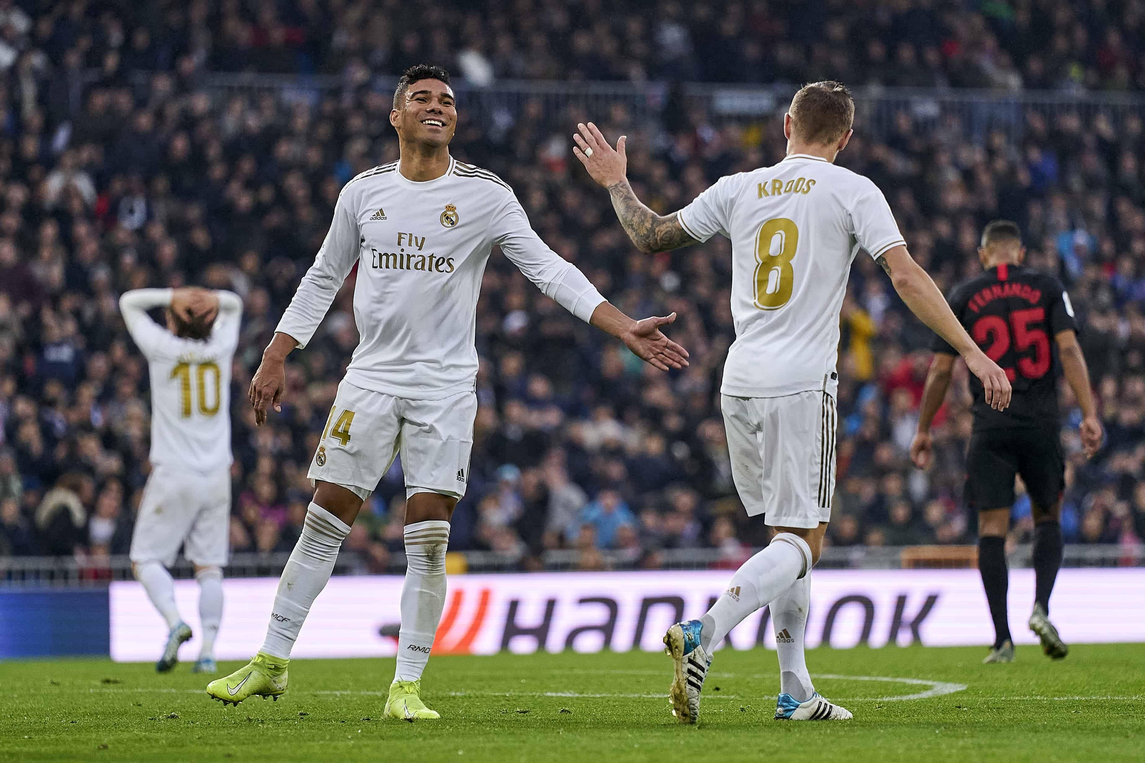 Real Madrid Vencio A Unionistas En La Copa Del Rey Y Paso A Octavos En 2020 Real Madrid Zinedine Zidane James Rodriguez