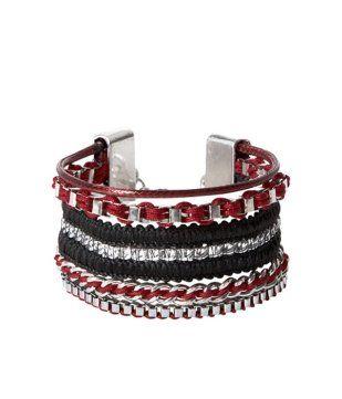 Bracelet multirangs bordeaux - Promod