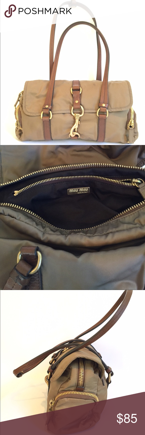 Miu Miu Nylon Shoulder Bag Authentic Miu Miu in good condition Miu Miu Bags  Shoulder Bags 151b443cff
