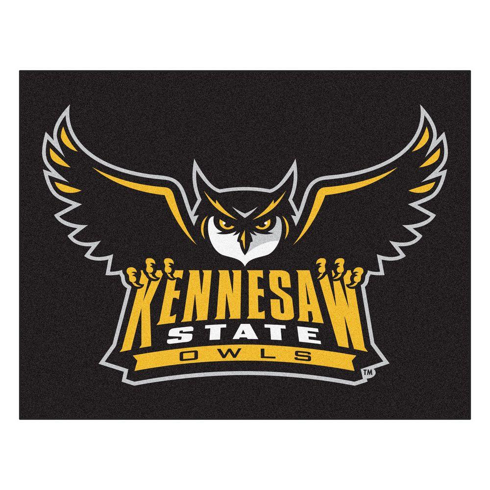 Fanmats Ncaa Kennesaw State University Black 3 Ft X 4 Ft Area Rug