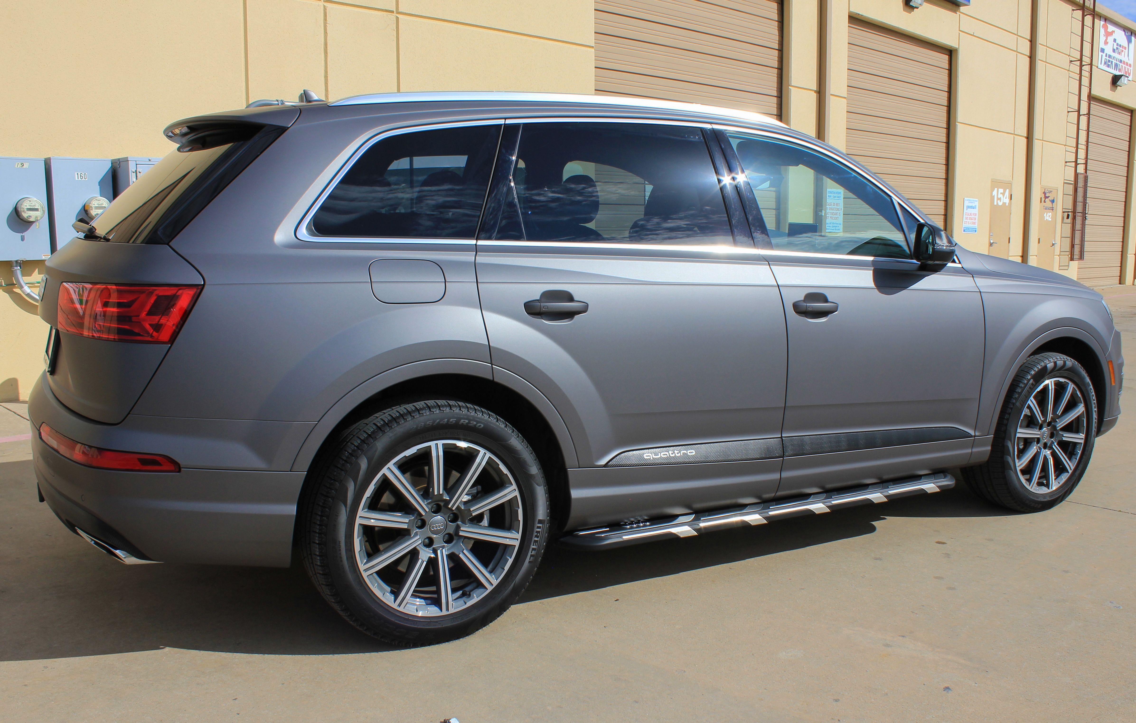 Matte Charcoal Metallic Wrap On Audi Q7 Car Wrap Car Audi Q7