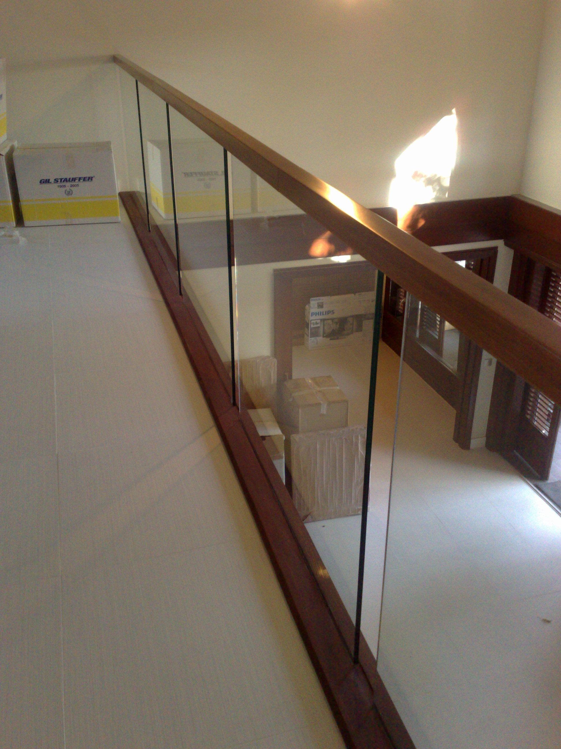 Barandilla De Cristal Y Madera Escaleras In 2018 Pinterest - Escaleras-de-cristal-y-madera