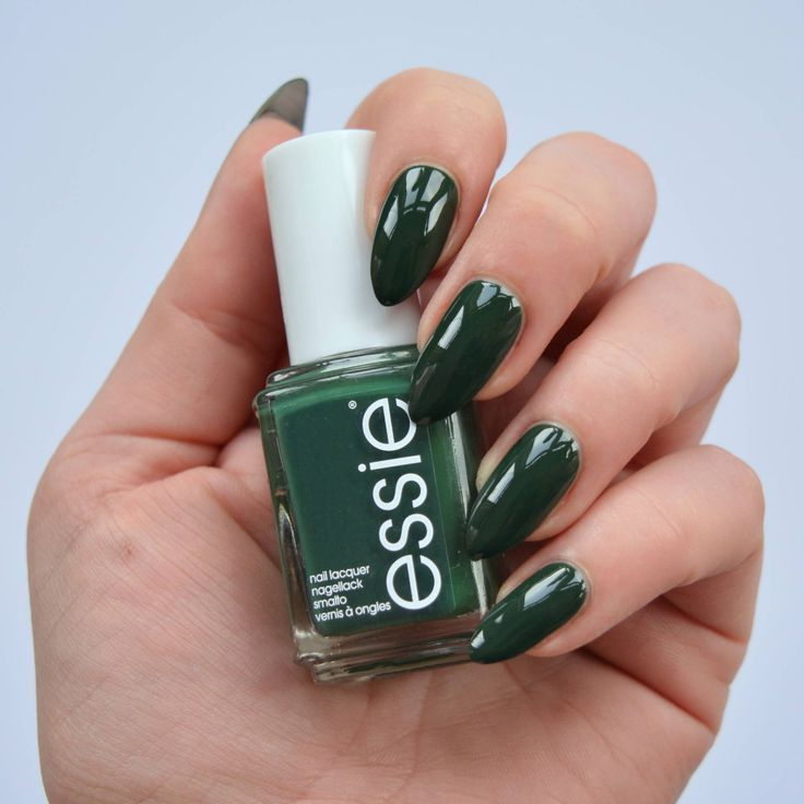 essie Spring 2016 Collection | Dark green nails, Green nail and Manicure