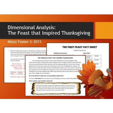 Dimensional Analysis The Three Day Feast That Inspired Thanksgiving