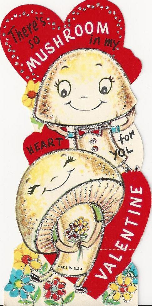 Vintage Valentine - There's so mushroom in my heart for you Valentine - I Antique Online