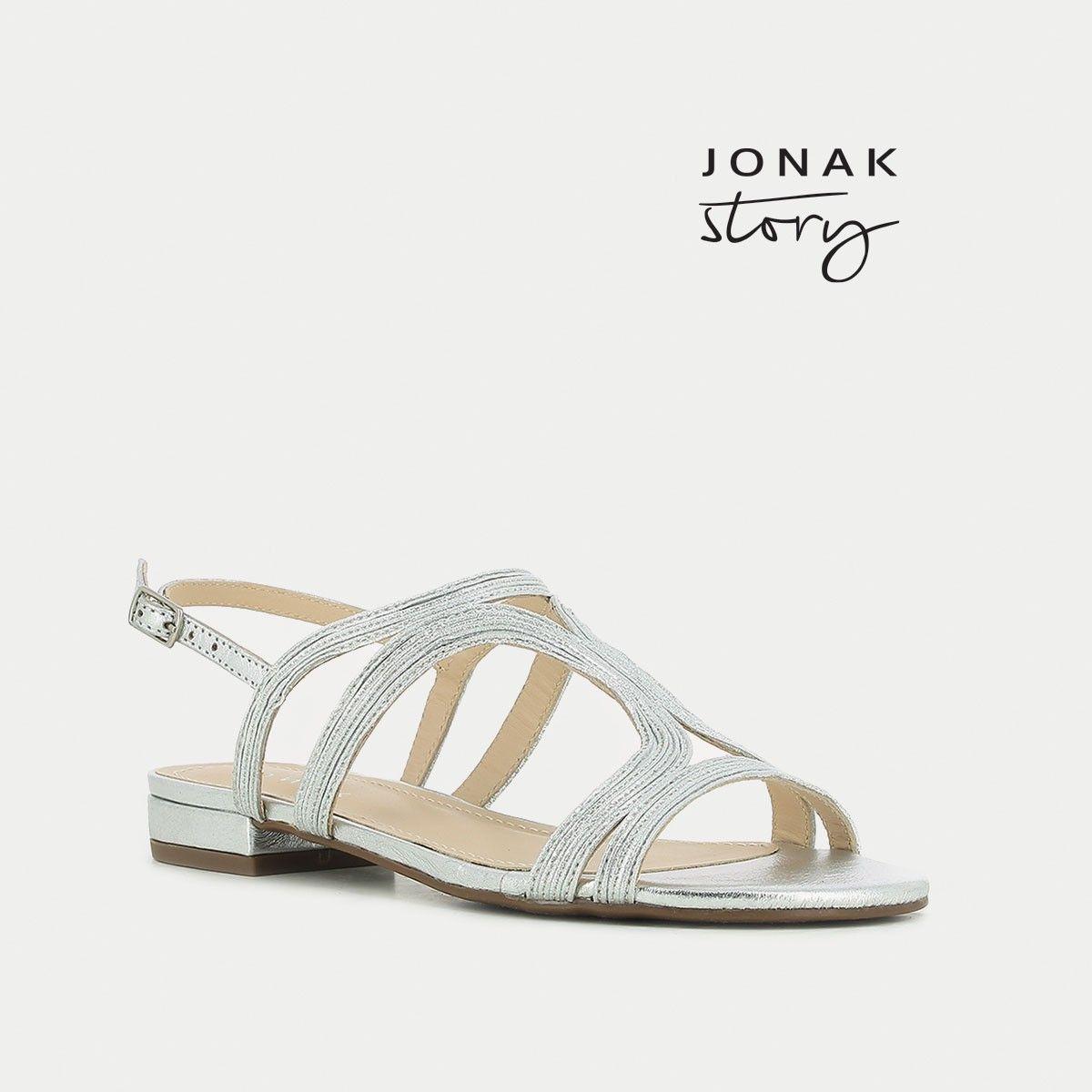 Sandales plates en cuir métalliséJonak UhacB9