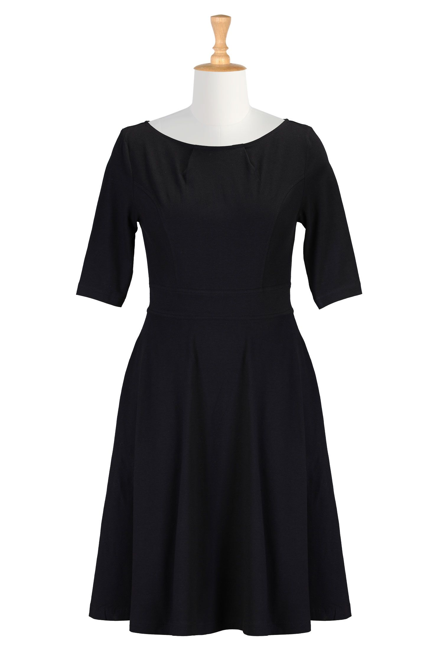 Little black dress with stretch fitandflare dresses shop womens