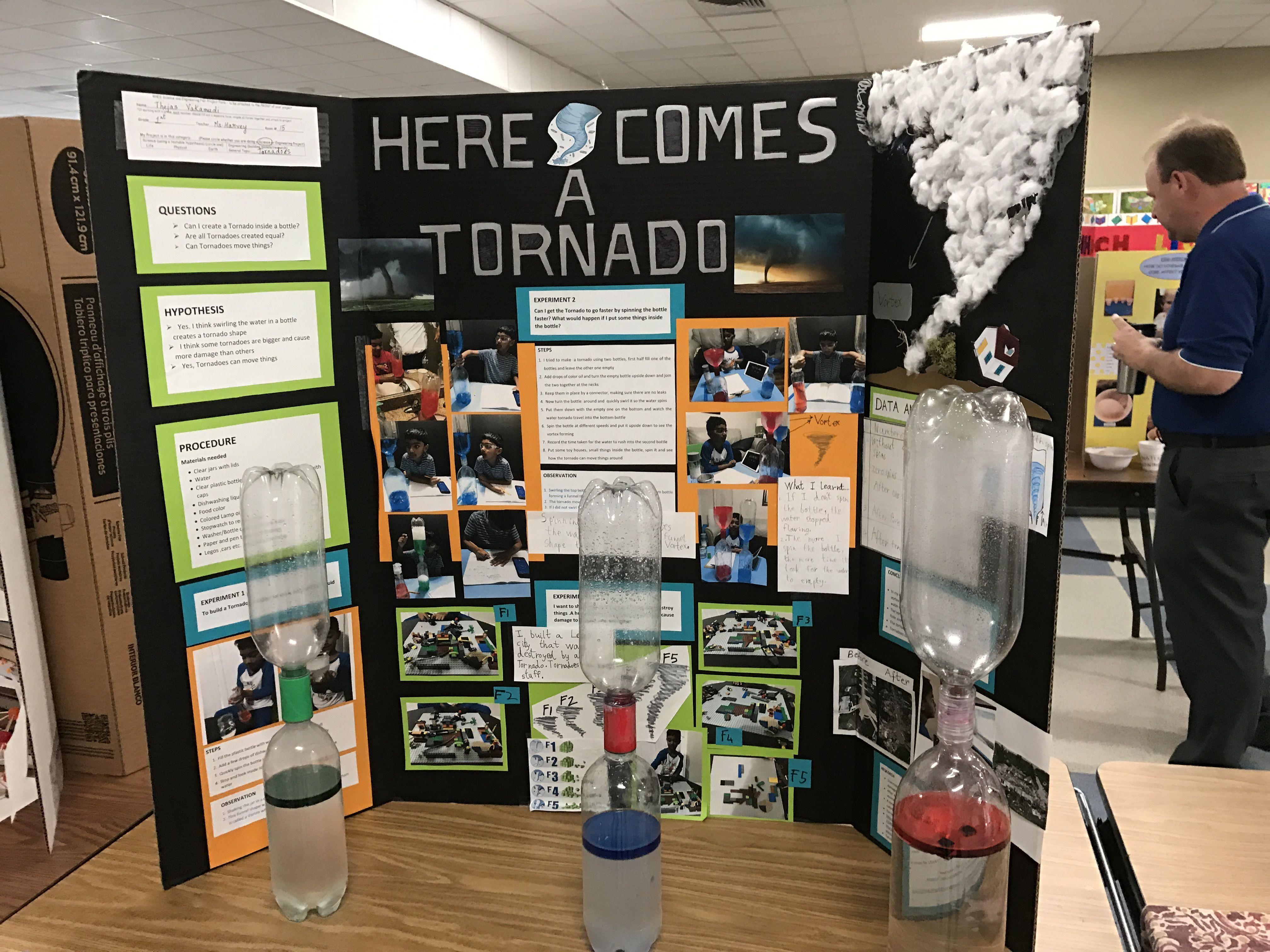 Grade 1 Science First Project Tornado In A Bottle