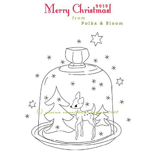 Free Christmas embroidery pattern from Polka & Bloom