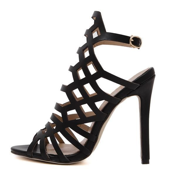 135a694464a2 Pumps Gladiator Sandals Peep Toe Ankle Strap High Heel Stiletto Shoes! high  heels