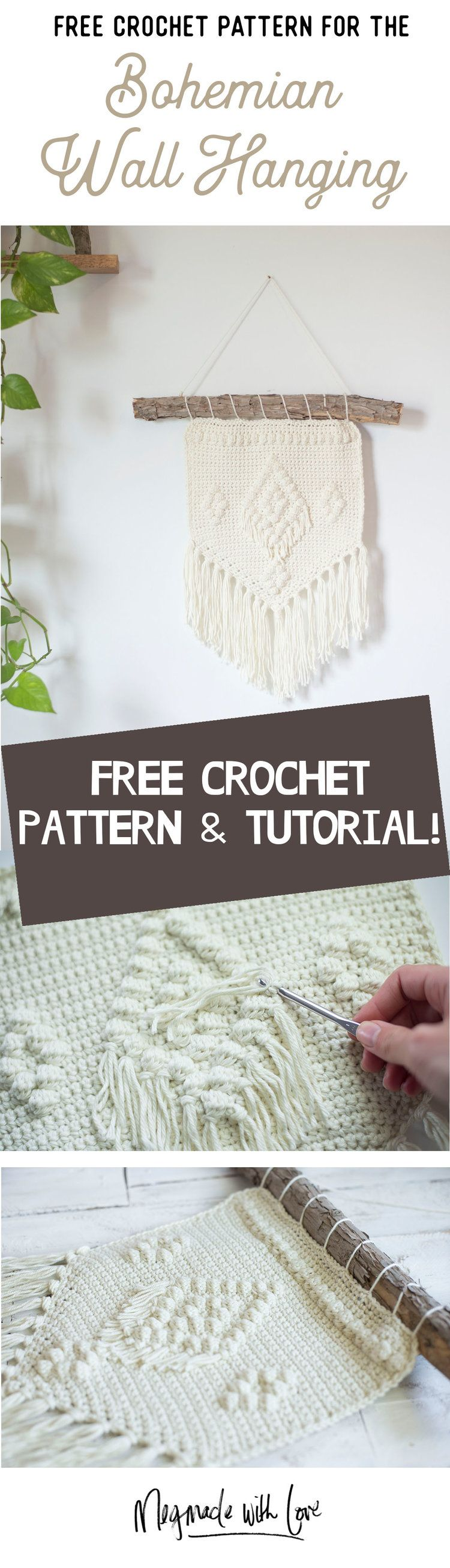 Free Crochet Pattern - The Bohemian Wall Hanging | Megmade with Love ...