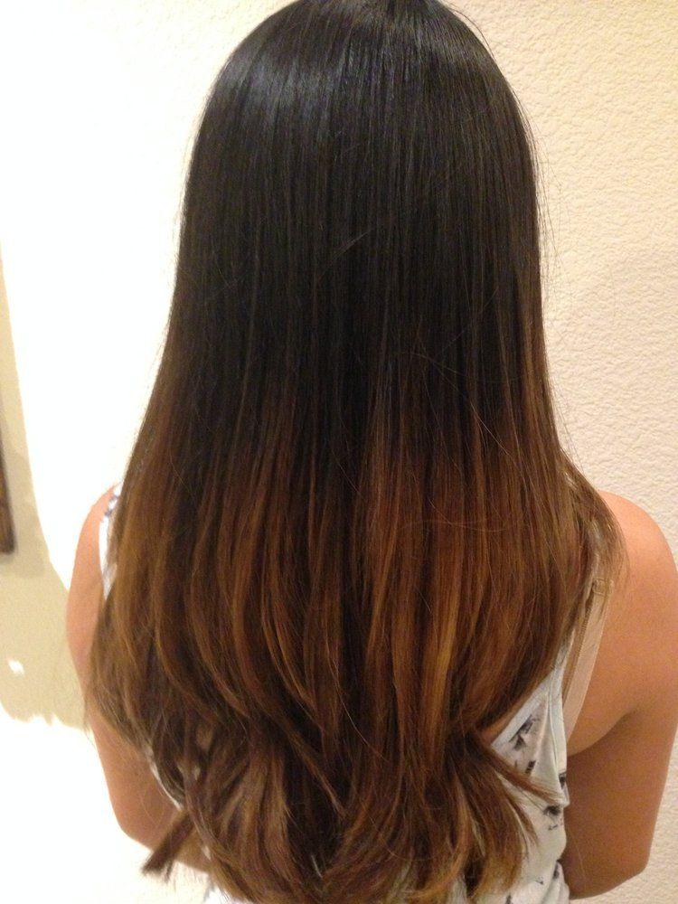 asian straight hair ombre - Sök på Google | hair ...