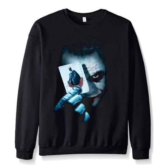 2 Colour Joker Inspired Dark knight Movie Mens Hoodie Hooded Pullover