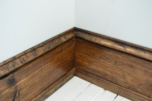 White Floor Challenge Farmhouse Trim Baseboards Baseboard Trim