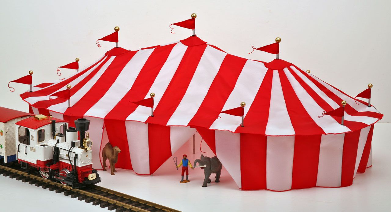 Tent New LGB Wilson Brothers Circus Scale Toy Circus Tent for Model Railway Railroad & SL-CRCS-3R Tent New LGB Wilson Brothers Circus Scale | Wheels Gone ...