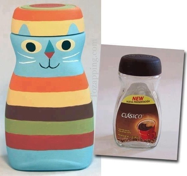 C mo hacer tarro de caf reciclado los tarros de vidrio de for Reciclar frascos de vidrio de cafe